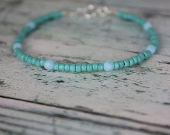Turquoise/LightBlue Beaded Bracelet