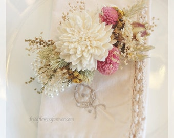 Vintage Wildflower Collection - Wrist Corsage -  Dried Flower Mother Grandmother Wedding Arrangment