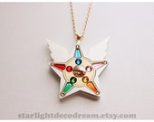 Sailor Star Yell Acrylic Necklace Sailor Starlights Fanart for Magical Girl and Mahou Kei Lovers