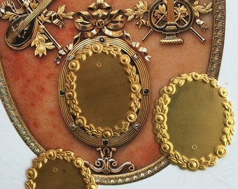 Faberge Style Laurel Frame (2 pc)