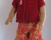 Ruffled Shorts and Capri Sewing Pattern for 18 inch Dolls such as American Girl PDF Download