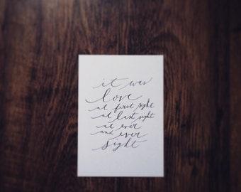 a bespoke hand-written love letter (A5)
