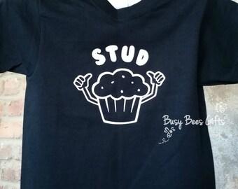Stud Muffin Shirt * Boys Stud Muffin Shirt * Boys Birthday Shirt * Boys Funny Shirt * Thumbs Shirt * Youth Short Sleeve Shirt