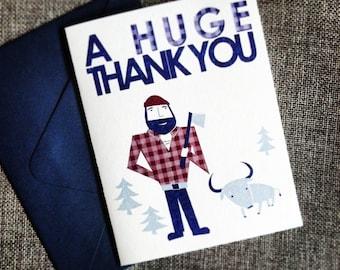 Paul Bunyan thank you card