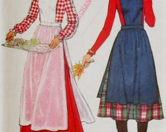 Uncut Vintage 1970s Apron Jumper & Skirt Pattern Bust 34 Simplicity 8114
