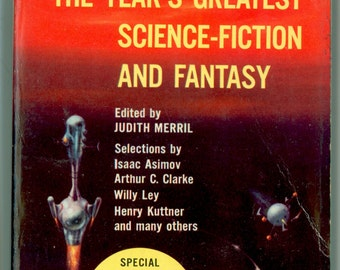 SF The Year's Best Science Fiction and Fantasy, Judith Merril, 3rd Annual 1958 First Paperback Edition Vintage Book Cover by Richard Powers
