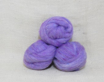 Needle felting wool batting in Periwinkle, wool batting, felting supplies, fleece batting in Periwinkle, blue lavender wool for spinning,