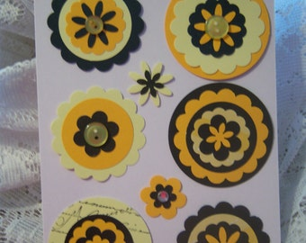 Layered Cardstock Embellishment for Scrapbook,Handmade Card,Tag,Gift Bag