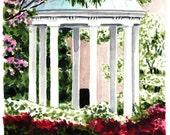 Old Well Chapel Hill UNC North Carolina - Giclee Print of Watercolor Painting - Rotunda University Alumni Tar Heels Charlotte Gift for Her