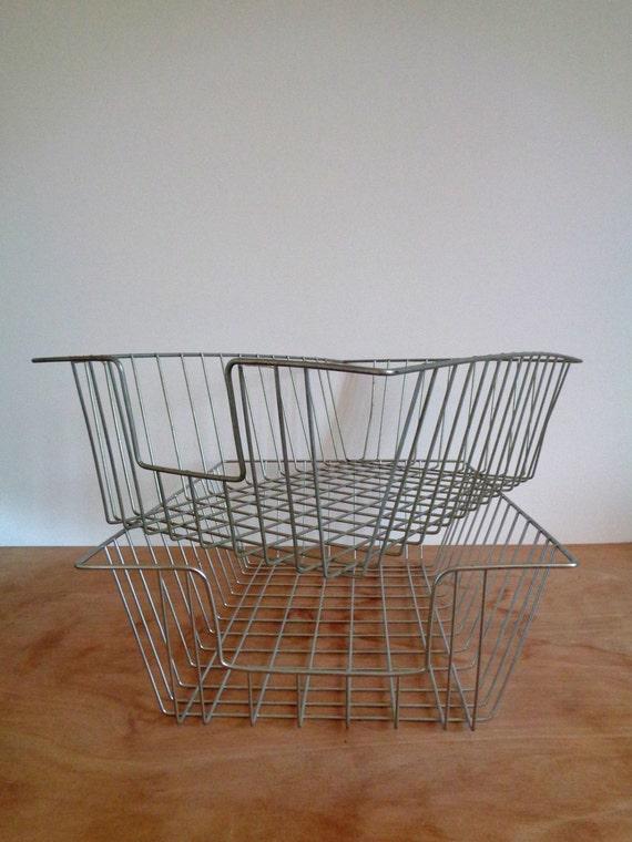 Large vintage metal wire desk letter organizer tray - Wire desk organizer ...