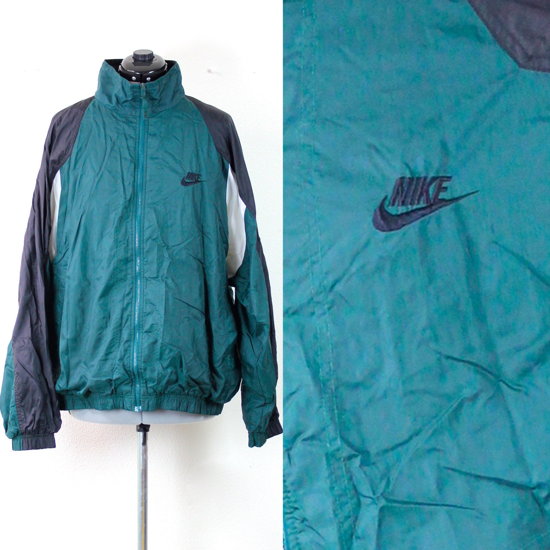 Vintage Retro Nike Green Windbreaker