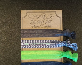 Seattle Seahawks Hair ties or Wrist ties