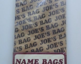 Vintage Joe Brown Paper Lunch Bags 1977