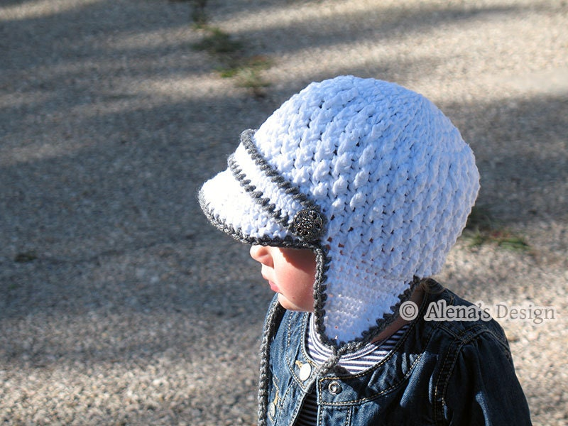 Newborn Crochet Hat Pattern With Ear Flaps : Crochet Pattern 130 Crochet Hat Pattern Hat Crochet