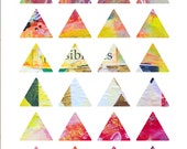 Triangles Art Journaling Mixed Media Stickers 4