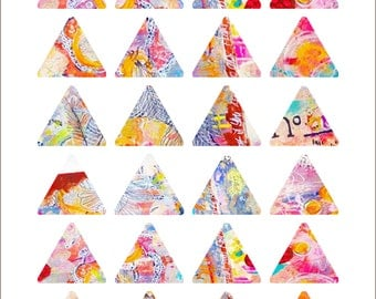 Triangles Art Journaling Mixed Media Stickers 2