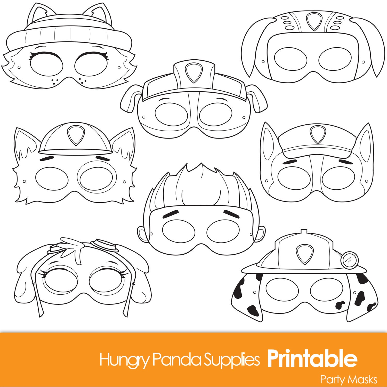 Paws Printable Coloring Masks dog masks printable masks