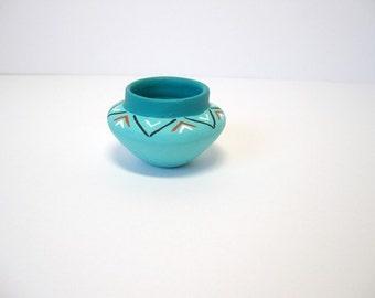 Ceramic miniature Indian pot