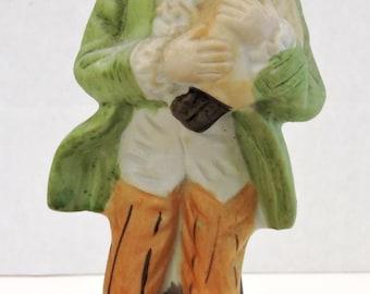 Vintage Boy and Fowl Figurine,Porcelain,Victorian,Spring,Farm,Handpainted,Keepsake