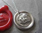 Lamb of God Wax Seal Necklace - Agnus Dei - Latin religious devotion antique wax seal charm jewelry
