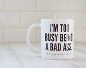 Bad Ass Hair // Ceramic Mug
