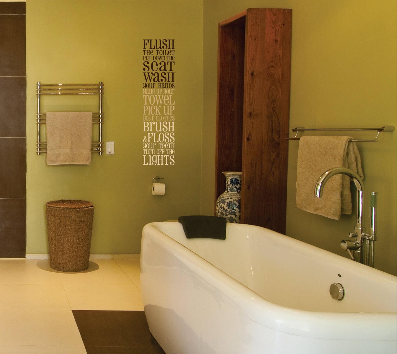 Bathroom wall decal bathroom vinyl wall decal for Bathroom vinyl decor