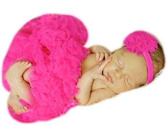 Newborn Pettiskirt Baby Tutu Premium Boutique Extra Full Pink Pettiskirt Tutu Skirt Berry Fuchsia Skirt