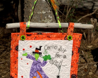 A Witch's Welcome Wall Hanging