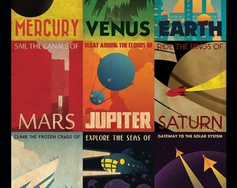 Retro Planetary Travel Poster