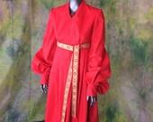 Princess Buttercup Red Dress--- Made To Order--- Princess Bride, Buttercup, Riding Dress, Renaissance, Linen