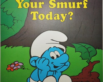 Have You Hugged Your Smurf Today - Vintage Smurf Poster from 1980s