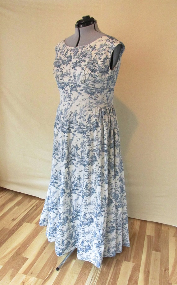 Vintage blue cotton wedding dress alternative by for Alternative plus size wedding dresses