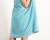 Blue Turkish Towel Peshtemal for Bath & Beach Fouta SALE 15%