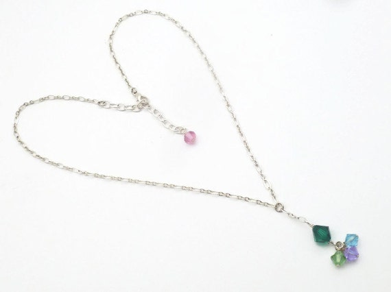 Mommy Necklace - Single Chain - Custom Made to Match Family Birthstone Colors