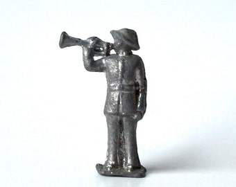 One Tin Soldier, Bugler, circa 1940s or 30s, WWII, revelry, taps, bugle, marching band