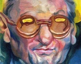 Canvas Print /Joe Paterno Pancake Glasses