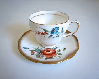 English Tea Cup and Saucer  - Fine Bone China Made in England