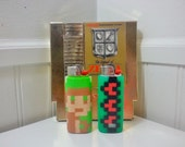 Zelda Perler Bead LIGHTER CASE - nintendo - link - heart container