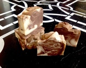 Vanilla Decadance Handmade Bar of Soap with Olive Oil, Shea Butter & Coconut Milk Dark Brown