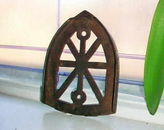 Antique Cast Iron Trivet Country Decor