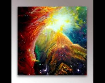 Orion Nebula Print | Signed Print | Nebula Painting | Orion Constellation | Nebula Art | Galaxy Art | Galaxy Painting | Hubble Telescope