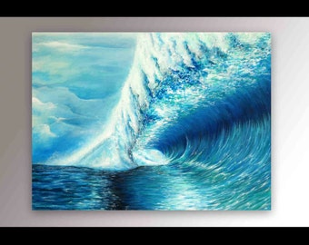 Surf Painting   Coastal Wall Art   Wave Painting   Signed Print   Beach Decor   Wave Art   Hawaii Painting   Surf   Pipeline