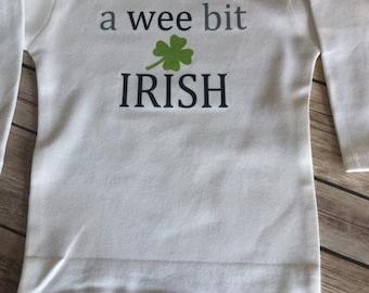 Wee bit Irish One Piece or shirt (Custom Text Colors/Wording)