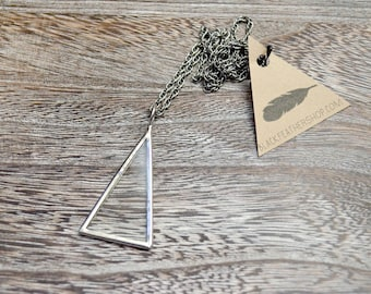 Glass Triangle Necklace