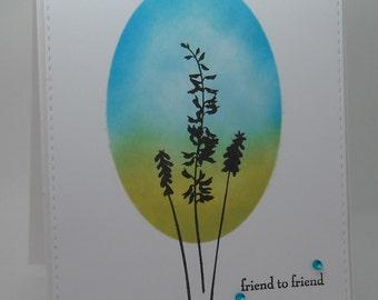 OOAK Clean & Simple Handmade Greeting Card.