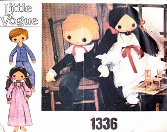 PATTERN Vogue 1336 Boy and Girl Doll and Clothes Victorian Little Vogue