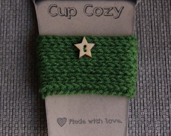 Button Cup Cozy in Kelley Green - Ready to Ship