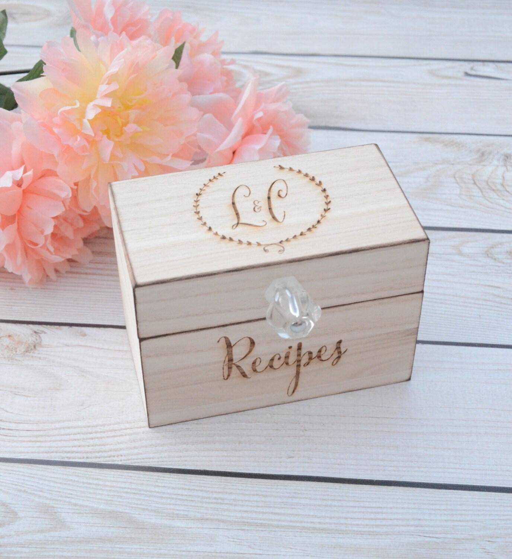 personalized recipe box wooden recipe box home decorations