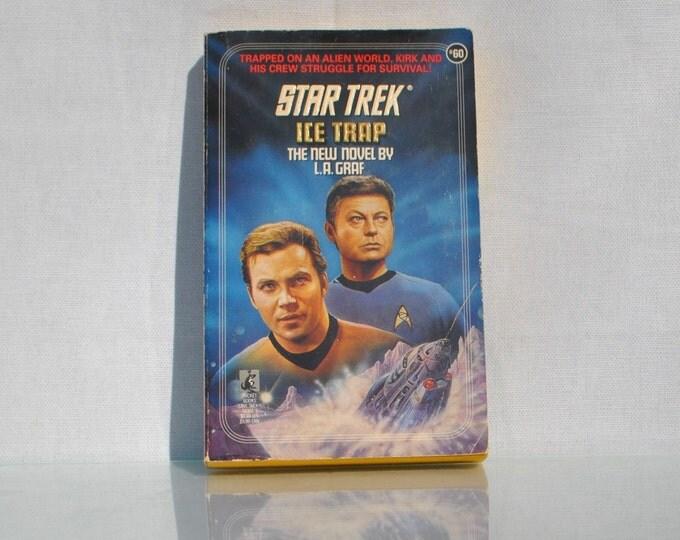 Vintage Paperback Book Star Trek The Original Series Ice Trap 60 1992 - Paramount - Pocket Books - Nordstral - Uhura - Chekov - Kirk - McCoy