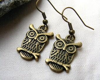 Owl Earrings-What a hoot!